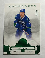 BO HORVAT - 2017-18 UPPER DECK ARTIFACTS EMERALD GREEN #ed 54/99