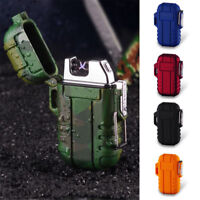 USB Electric Rechargeable Cigarette Lighter Camping Explorer Water & Windproof