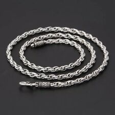 Solid 925 Sterling Silver Mens Chain Necklace Various Lengths