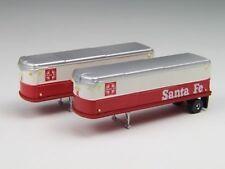CMW N Scale Diecast Santa Fe Express Service Aerovan Trailer 51117 2Pk