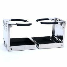 2X Boat Stainless Steel Folding Cup Drink Holder for Marine Yacht Truck RV