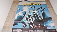 LES REQUINS shark   ! affiche cinema 1974 no jaws