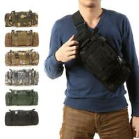 Outdoor Military Tactical Waist Pack  Molle Camping Hiking Zipper Pouch Bag