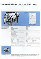 1 Mercedes 2435 S 6x2/4 Sattelzugmaschine Datenblatt Technische Daten 1988