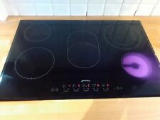 Smeg SE385EMTB 77cm 5-Zone Angled Edge Glass Ceramic Hob with Touch - chipped