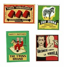 4 Old Italy c1900s packet matchbox labels Three Tarbouches etc