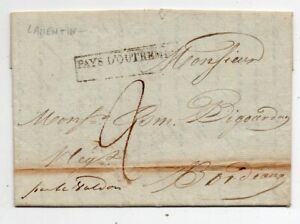 1832 MARTINIQUE TO FRANCE COVER, LAMENTIN, SUPERB CANCELS, RARITY TOP