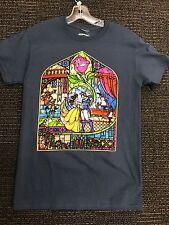 Disney Beauty & The Beast Stained Glass Window T-Shirt Adult S L XL XXL