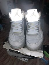 2011 Jordan Retro V Wolf Grey 5 White Black Metallic Cement III 136027-005 Sz 8