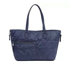 Danzo Diaper Bag Lexington, Light Navy with Neon Green Interior NWT