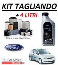 KIT FILTRI TAGLIANDO + OLIO ORIGINALE 5W30 FORD FIESTA 5 V 1.4 TDCI 50KW 68CV