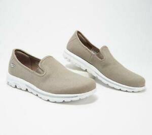 Skechers GOwalk Canvas Slip-On Shoes - Adorn $57 TINI {&}