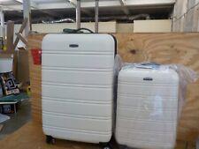 Rockland Melbourne Hardside Expandable Spinner Wheel Luggage, White
