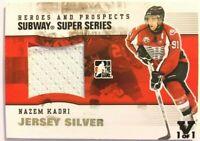 2009-10 ITG Heroes & Prospects Subway Super Series Jersey Silver Nazem Kadri 1/1