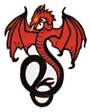 be81 Roter Drache Flügel Dragon Tattoo Aufnäher Applikation Bügelbild Patch DIY