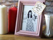 KATIE ALICE COLLECTION Small PINK RECTANGULAR Shabby Chic STANDING PHOTO FRAME