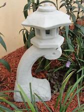PAGODA ORIENTAL STONE CONCRETE LANTERN JAPANESE ANTIQUE light grey