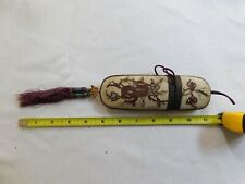 Antique Chinese Brass Framed Glasses with Embroidery Case