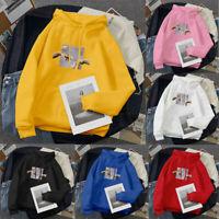 ✅Hooded Hoodie Jumper Blouse Women's Sweater Long Sleeve Top Sweatshirt Pullover