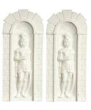 More details for dolls house 2 roman soldier niches wall decor panals miniature garden accessory