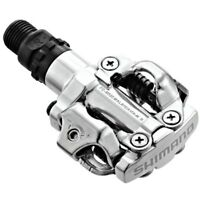 Shimano PD-M520 MTB XC Clipless SPD Pedals SILVER inc. Cleats EPDM520S
