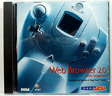 Web Browser 2.0 with SegaNet (Sega Dreamcast) Complete - Clean,Tested,Fast Ship