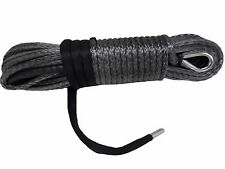 "Grey 11mm*30m 7/16"" Synthetic Winch Rope Cable,Plasma Winch Cable,Off Road Rope"