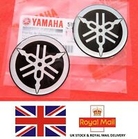 YAMAHA TANK BADGE R1 R6 YZF x 2 45MM DIAMETER ** GENUINE YAMAHA & UK STOCK **