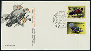 PapuaNew Guinea 466-7 on FDC - Protected Birds
