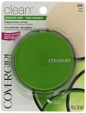 2  CoverGirl Clean Sensitive Skin Pressed Powder Ivory (N) 205, 0.35-Ounce Pan