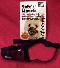 Dog Muzzle Size 1 Black Padded Nylon 12 Cm Jack Russel Westie Cavalier Spaniel