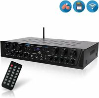 Pyle Wireless Audio Amplifier System-Bluetooth Compatible Sound Stereo receiver