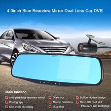 "4.3"" Full HD 1080P Dual Lens Vehicle Camera DVR Video Recorder Crash Dash Cam"