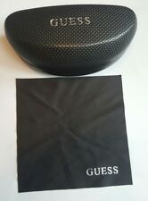 GUESS LARGE BLACK PERFORATED HARD SUNGLASSES CASE WITH CLEANING CLOTH