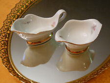 Limoges Signed Michel Hungaro French Hand Painted China Creamer and Sugar Set