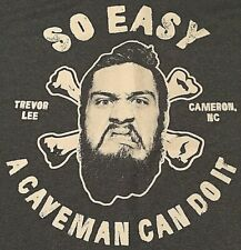 Trevor Lee Cameron NC A Caveman Can Do It XL T-Shirt, TNA, Carolina Caveman, PWG