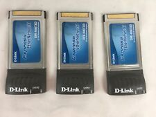 Lot of 3 D-Link Dfe-690Txd 10/100Mbps Fast Ethernet Notebook Cardbus Adapter