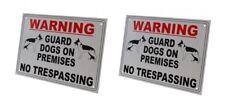 External A4 'Guard Dog on Premises' Warning Sign (pack of 2)