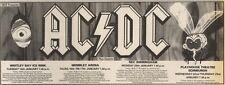 16/11/85PN40 ADVERT: MCP PRESENTS AC/DC LIVE & VENUES JAN 1986 4X11