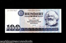 GERMANY 100 MARKS P31 1975 KARL MARX REPLACEMENT ZA MONEY EAST MONEY BANK NOTE
