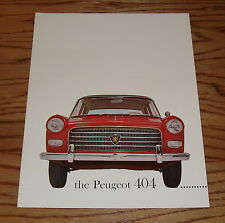 Original 1961 Peugeot 404 Sales Brochure 61