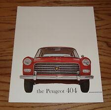 Original 1961 Peugeot 404 Sales Brochure 61