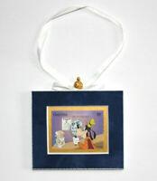 Disney Goofy  Hand Crafted Velvet Framed Guyana Stamp Christmas Tree Ornament