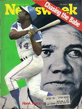 1973 8/13 Newsweek magazine baseball Hank Aaron, Atlanta Braves, Babe Ruth EX