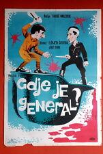 WHERE IS THE GENERAL? POLISH ELZBIETA CZYZEWSKA 1964 JERZI TUREK YU MOVIE POSTER