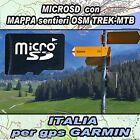 MICROSD MAPPA MTB TREK ITALIA CARTOGRAFIA OSM MAP SENTIERI PER GPS GARMIN
