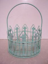 Green Arch Cross Easter Bunny Basket Decoration Spring