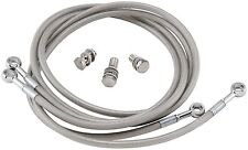 "Streamline 20"" Universal Clear Stainless Braided Rear Brake Line Kit 993133"