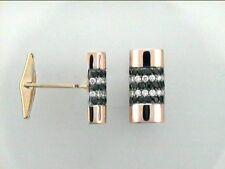 Men's 14K White Gold Black & White Diamond Cufflinks w/1.46 cts. diamonds