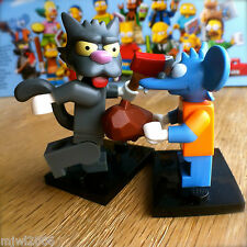 LEGO 71005 THE SIMPSONS Minifigures ITCHY & SCRATCHY SEALED Minifigs 2 cat mouse